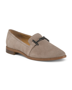 Suede With Metal Detail Loafers