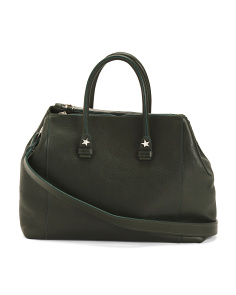 Made In Italy Convertible Leather Satchel
