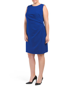 Plus High Neck Fitted Dress