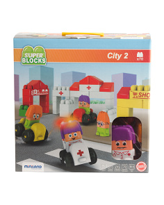 Made In Spain 70pc Super Blocks City Set