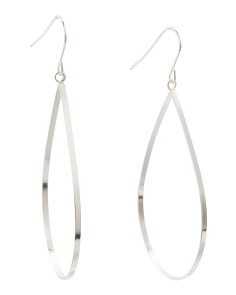 Sterling Silver Open Teardrop Earrings