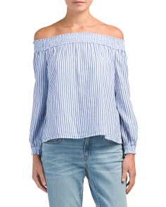 Off The Shoulder Stripe Drew Top