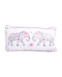Kids 27x14 Fancy Elephant Pillow