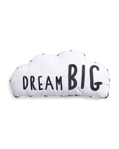 Kids Dream Big Cloud Pillow