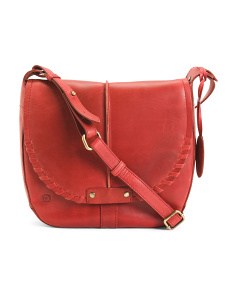 Leather Bronco Crillon Crossbody