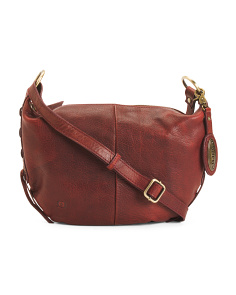 Leather Evelet Crossbody