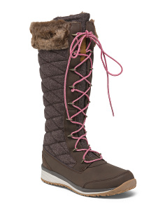 Waterproof Mid Winter Split Leather Boots