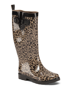 Leopard Print High Shaft Rain Boots