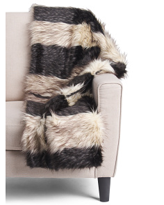 Bandit Faux Fur Throw