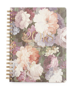 Classic Floral 2018 Spiral Planner