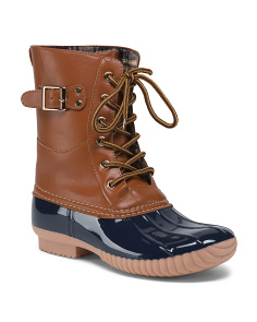Mid Shaft Lace Up Duck Boots
