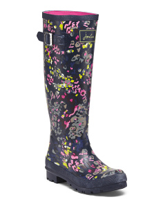 Printed High Shaft Rain Boots