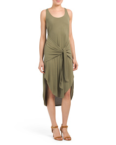 Tie Front Washed Dress