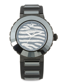 Women's Swiss Made New Octea Sport Zebra Crystal Watch