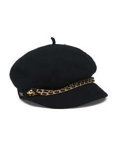 Hat With Double Chain Detail