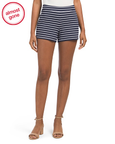 Stripe Ponte Shorts