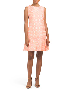 Dot Box Pleat Dress