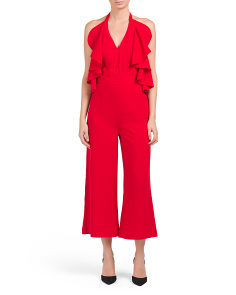 Juniors Ruffle Front Jumpsuit