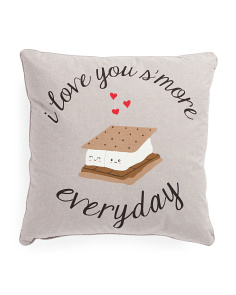 20x20 I Love You S'more Everyday Pillow