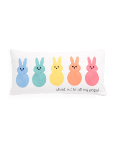 12x24 Shout Out To My Peeps Pillow
