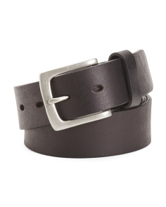 Men's Bar Track Leather Jean Belt