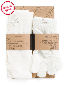 Exfoliating Stretch Cloth And Gloves