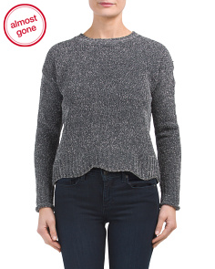 Long Sleeve Lurex Cropped Sweater