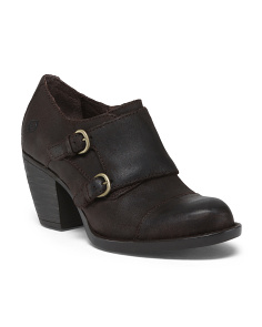 Davis Comfort Buckle Leather Booties