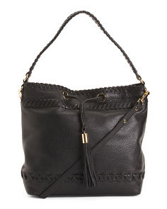 Leather Astor Bucket Bag