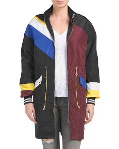Juniors Long Color Block Anorak