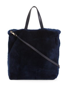Made In Italy Shearling Leather Tote
