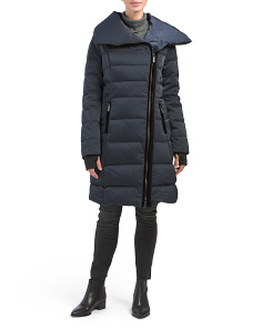 Brooklyn Asymmetrical Zip Down Coat