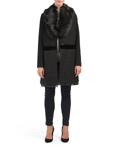 Vera Wool Coat With Faux Fur Collar