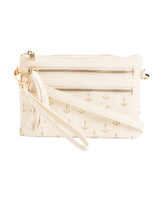 Anchor Print Crossbody