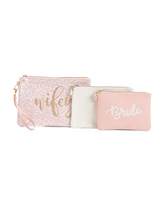 Bride Set Of 3 Pouches