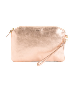RFID Dustine Leather Wristlet Pouch