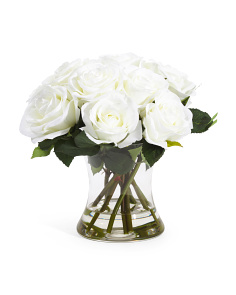 10in Faux Rose Arrangment