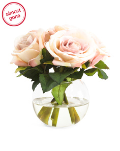 7in Faux Rose Arrangment