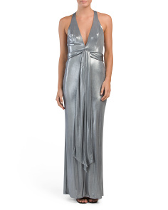 Made In USA Punging Metallic Gown