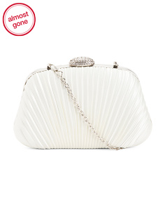 Rouched Satin Miniauderie Evening Bag