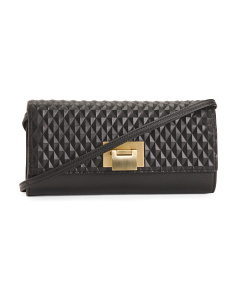 Blanche Quilted Leather Clutch Crossbody