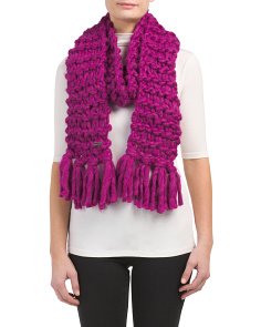 Super Chunky Open Knit Scarf