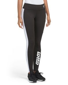 Contrast Stripe Logo Leggings