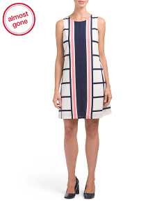 Stripe Panel Dress