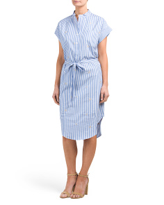 Made In Italy Poplin Tie Dress
