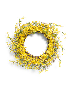 30in Faux Forsythia Wreath