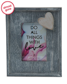 4x6 Heart Applique Photo Frame