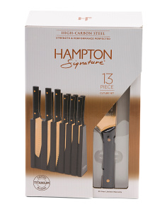 13pc Titanium Coated Cutlery Set