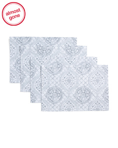 4pc Avril Medallion Placemats