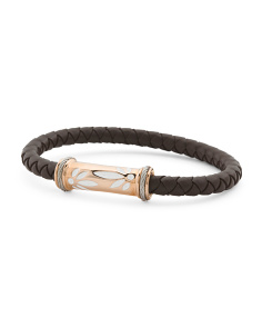 Brown Rubber And White Lacquer Bracelet